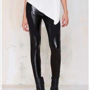Nasty Gal Faux Real leggings